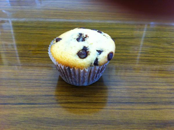 One Choc-chip muffin