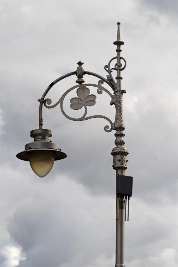 Ornate Street Lamp in Dublin