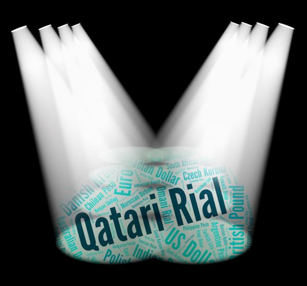 Qatari Rial Indicates Foreign Currency And Currencies