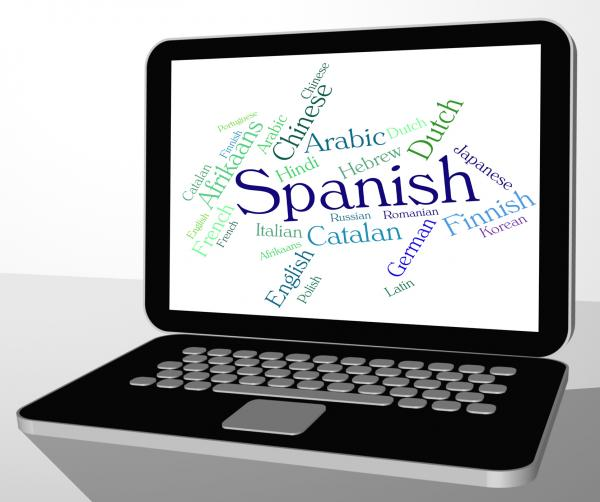Spanish Language Means Wordcloud Translator And Text