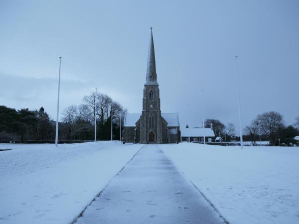 St. John's Church in snow, 2017