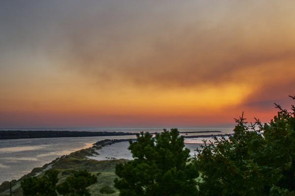Sunset, Yaquina Beach, Newport, Oregon