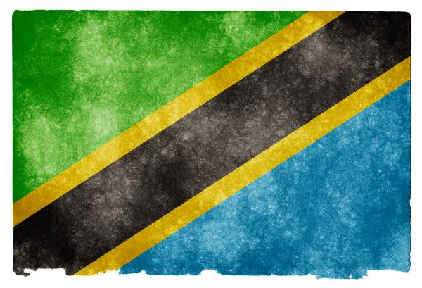 Tanzania Grunge Flag