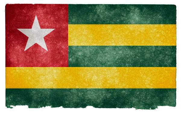 Togo Grunge Flag