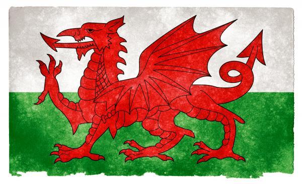 Wales Grunge Flag