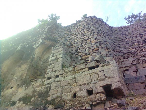 Wall of Golconda fort