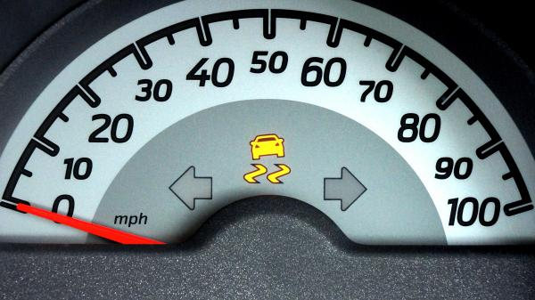 White and Grey Car Speedometer Gauge on 0 Miles Per Hour