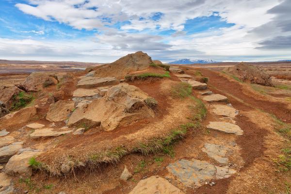 Winding Iceland Mound Trail