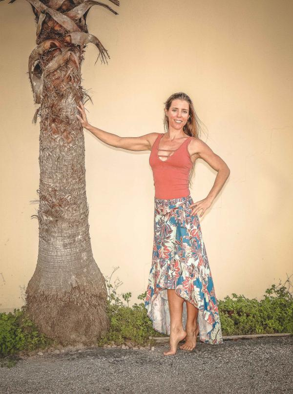 Woman Posing Near Tree