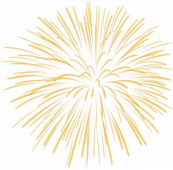 Yellow firework